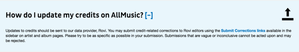 AllMusic Credit Correction
