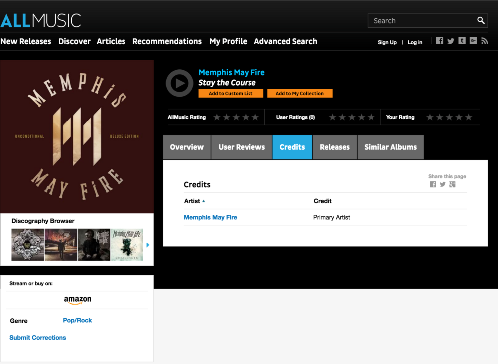 AllMusic Credit Uncredited