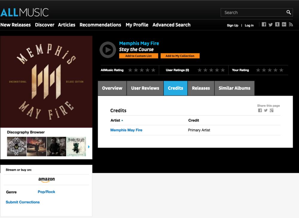 AllMusic Credit Uncredited